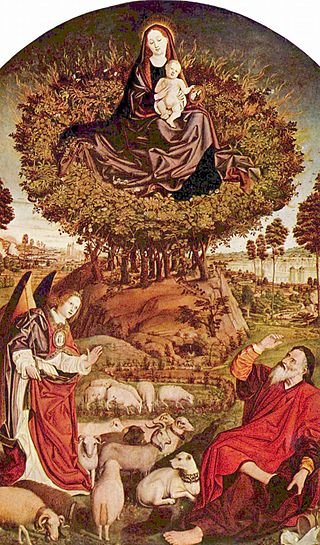 Triptych of the Burning Bush